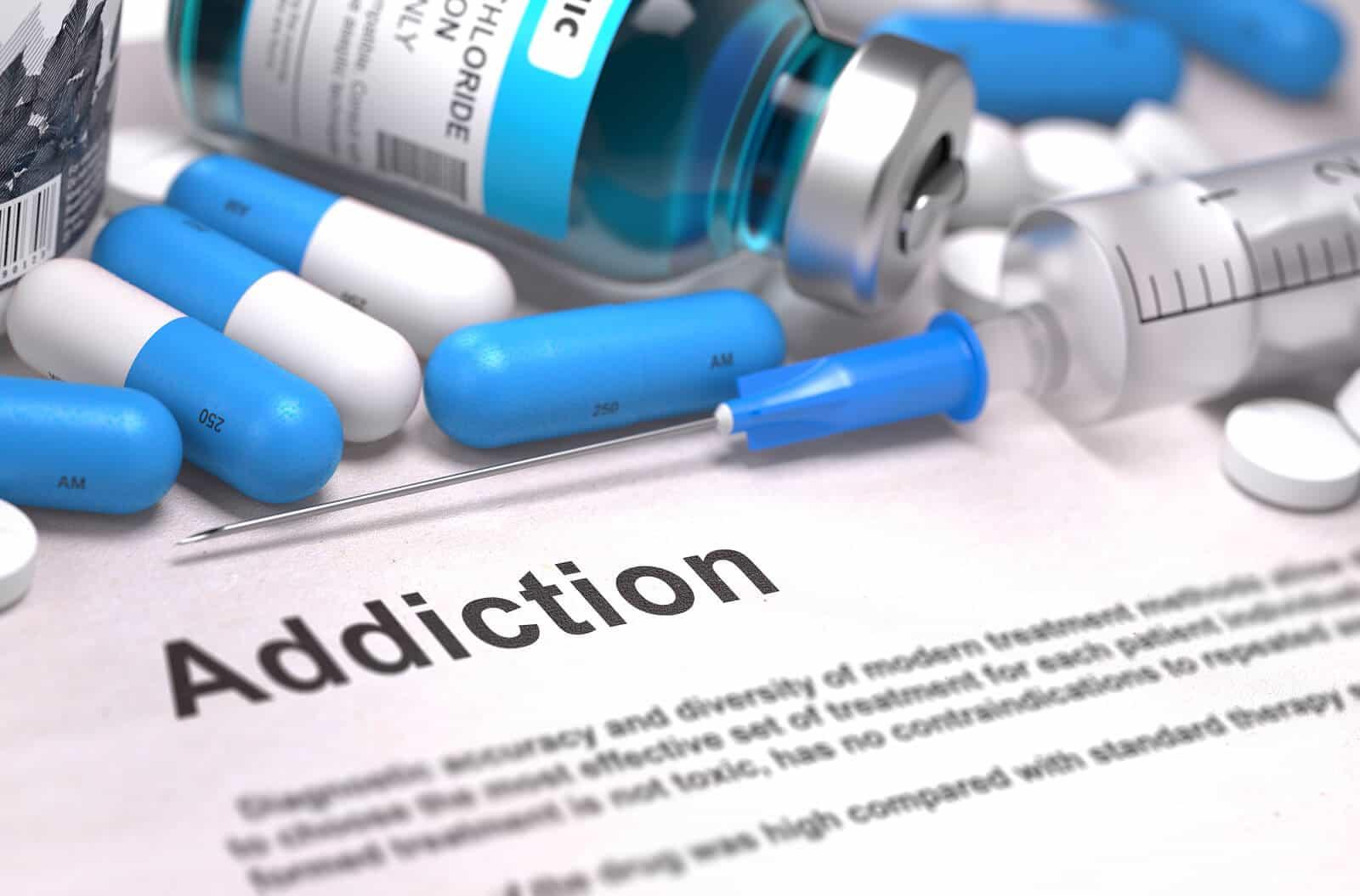 Diagnosis - Addiction. Medical Concept.