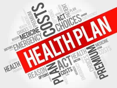 Save Download Preview Health Plan word cloud collage health concept background