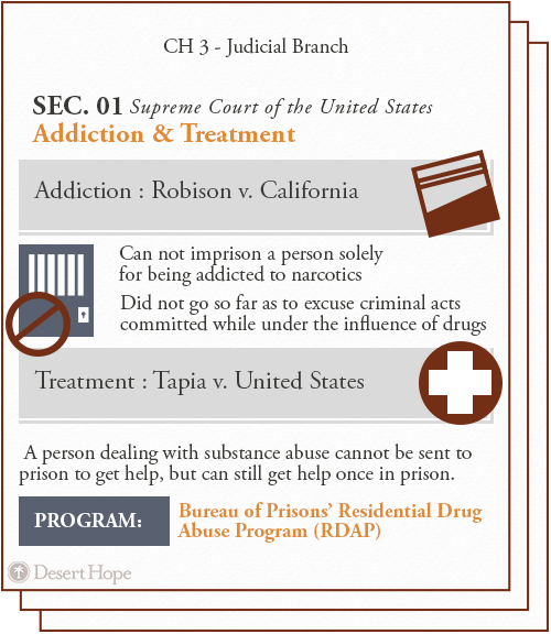 supreme court of the united states on addiction and treatment, addiction: robison v. california. Treatment: tapia v. united states.