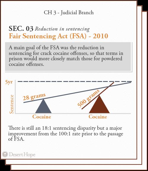 judicial branch, reduction in sentencing, fair sentencing act (FSA)
