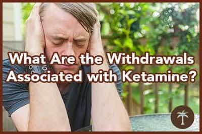 individual experiencing ketamine withdrawal symptoms