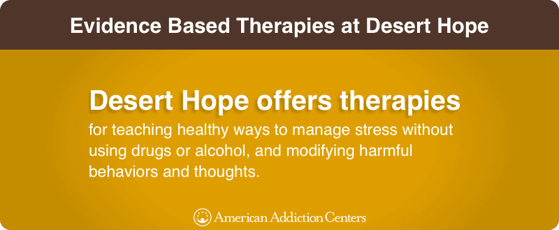 Evidence Based Therapies at Desert Hope